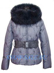 Пуховик женский короткий с мехом енота Snowimage 104-9174.